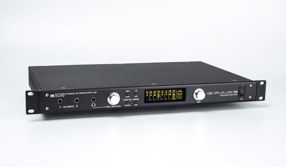 Grace Design m108 8-Channel Remote Controlled Mic Preamp / ADC