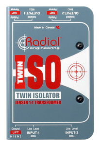 Radial Twin-Iso Two Channel Line Level Isolator