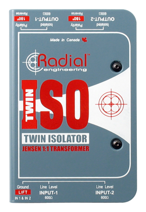 Radial Twin- Iso Two Channel Line Level Isolator