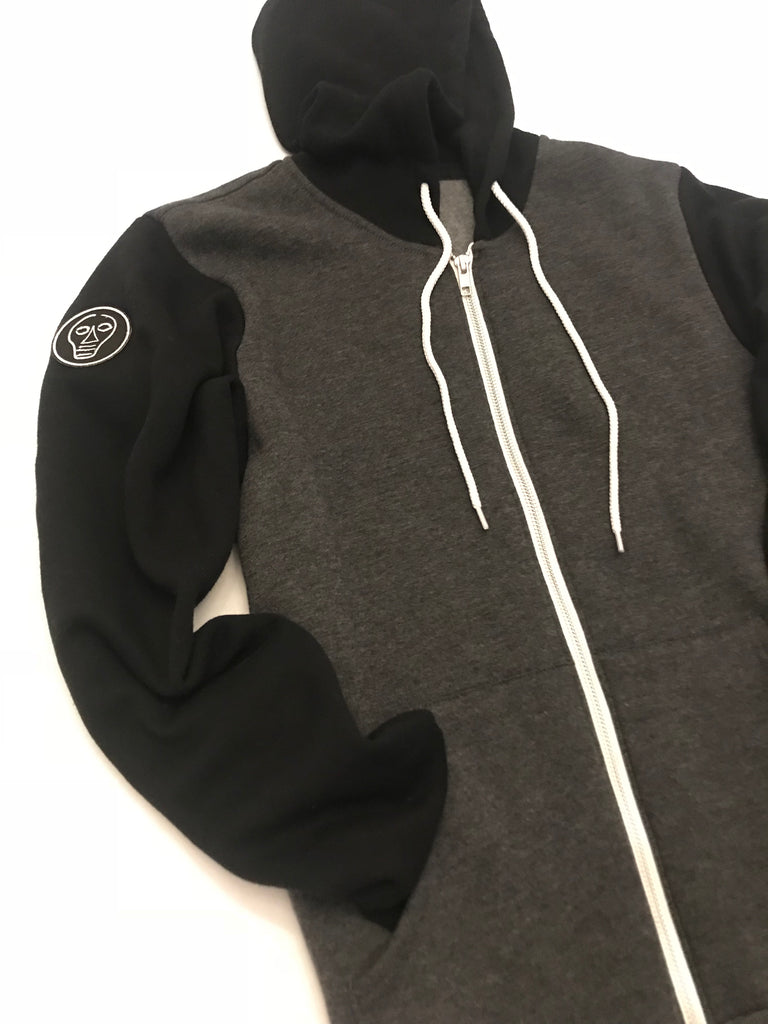 Black & Gray Zip-up Hoodie