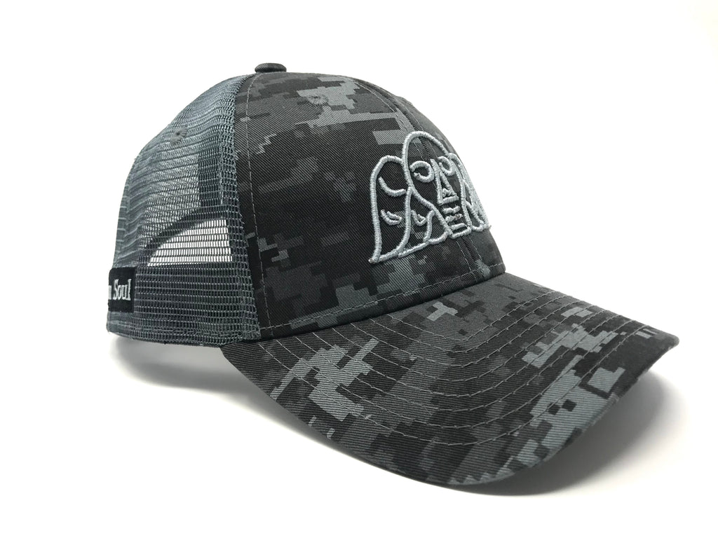Puffy Logo Trucker