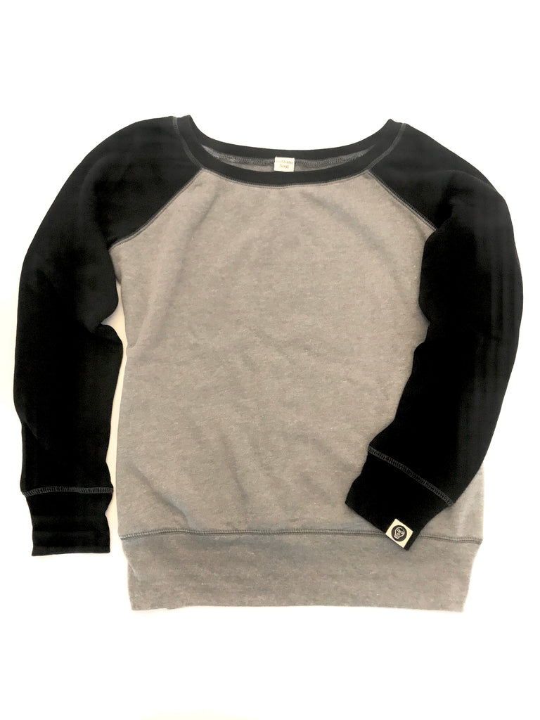Black & Gray Colorblock Sweatshirt