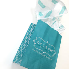 A Cut Above Boutique Custom Retail Bag and Tissue Paper