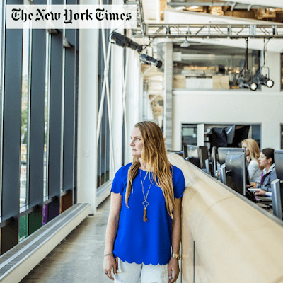 Bridget Sloan, featured in The New York Times, wears a Right Move Scallop Top and Tassel Necklace by A Cut Above.