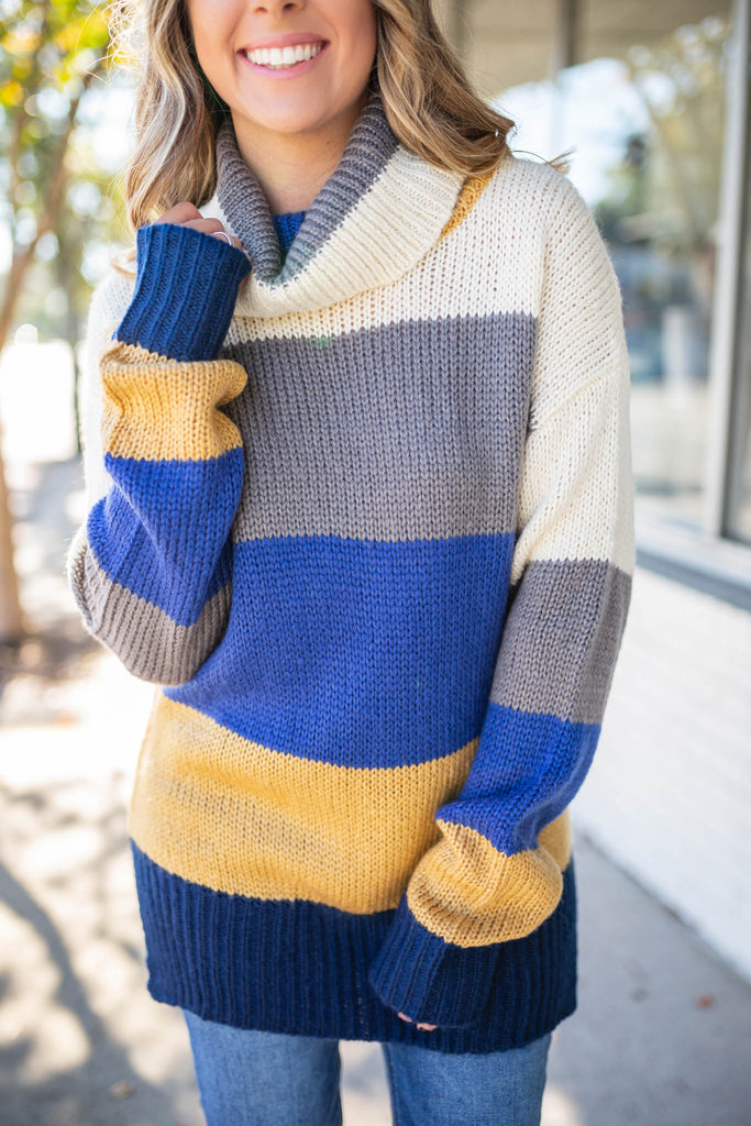 Season Of Stripes Turtleneck - A Cut Above Boutique