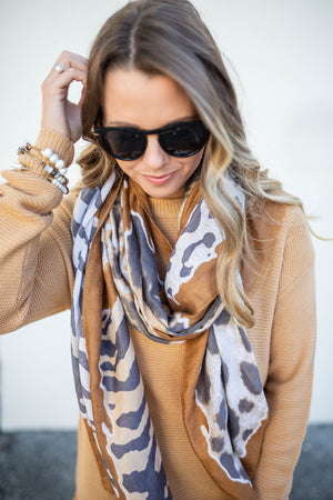 Believe Me Leopard Scarf - A Cut Above Boutique