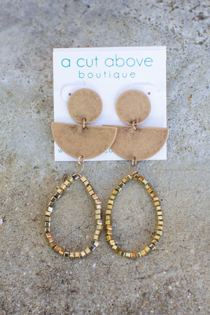 Shape Of You Gold Dangle - A Cut Above Boutique