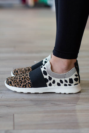 With Sass Leopard Sneaker