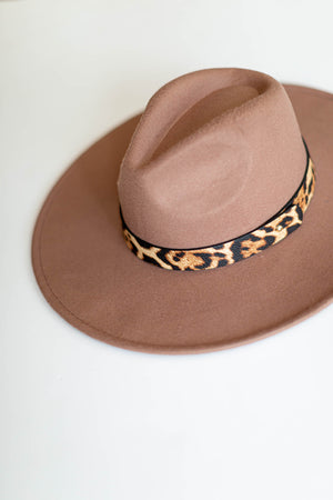 Leopard Brim Hat - Khaki - A Cut Above Boutique
