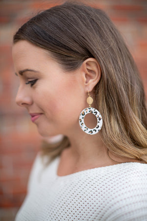 Leopard Leather Earring - A Cut Above Boutique