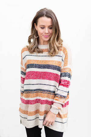 Play It Cool Stripe Sweater