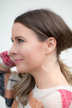 Southern Chic Pearl Hoops - A Cut Above Boutique