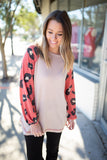 Rock The Leopard Sleeves - Ruby