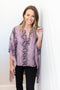 On With It Kimono Blouse - Mauve