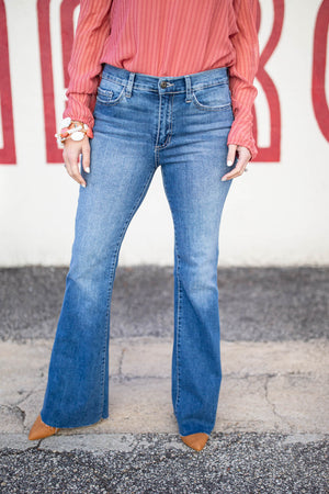 Who Do You Love Flare Jeans - A Cut Above Boutique