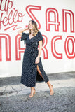 Pretty Thang Polka Dot Midi Dress - Black - A Cut Above Boutique