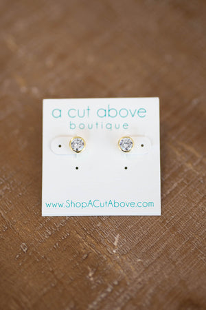 Macy Rhinestone Stud Earring - A Cut Above Boutique
