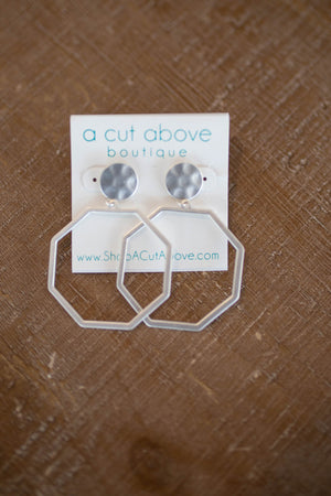 Time Tells Silver Hammered Earrings - A Cut Above Boutique