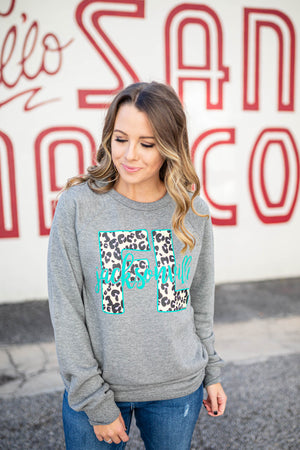 Jacksonville Leopard Sweatshirt - A Cut Above Boutique