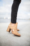Braided Just Right Bootie - Taupe - A Cut Above Boutique