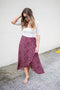Wrap Cheetah Midi Skirt - Rasberry