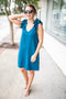 Miss Proper Shift Dress - Teal