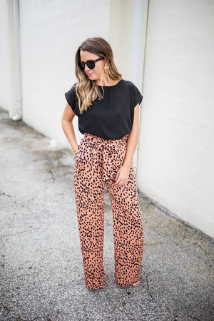 Ride With Me High Waisted Cheetah Pants - A Cut Above Boutique