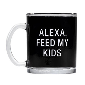Alexa Glass Mug - A Cut Above Boutique
