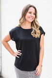 I like You Black Blouse - A Cut Above Boutique