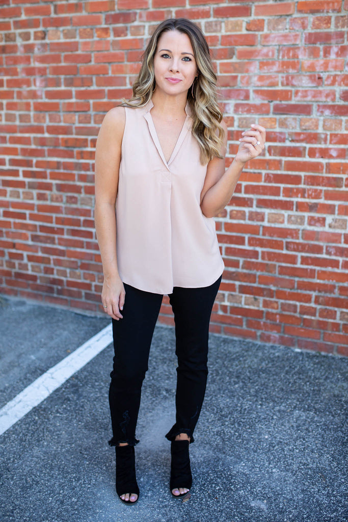 Give Me Space Tank - Taupe - A Cut Above Boutique