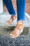 Cross It Espadrille Wedge - Tan - A Cut Above Boutique