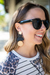 No Shame Wood Earrings - Black + Gold