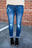 Hold On Distressed Jean - A Cut Above Boutique