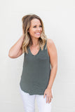 Time Tells Tank Top - Black + White - A Cut Above Boutique