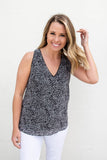 Love It All Leopard Tie Tank - A Cut Above Boutique