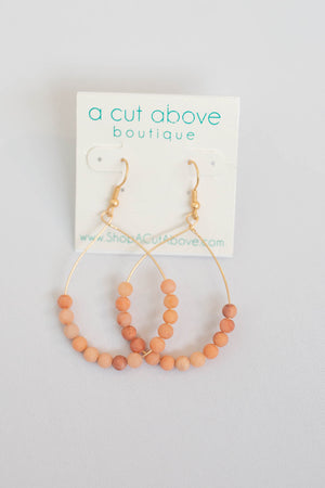 Like Me Beaded Earring - Dusty Pink - A Cut Above Boutique