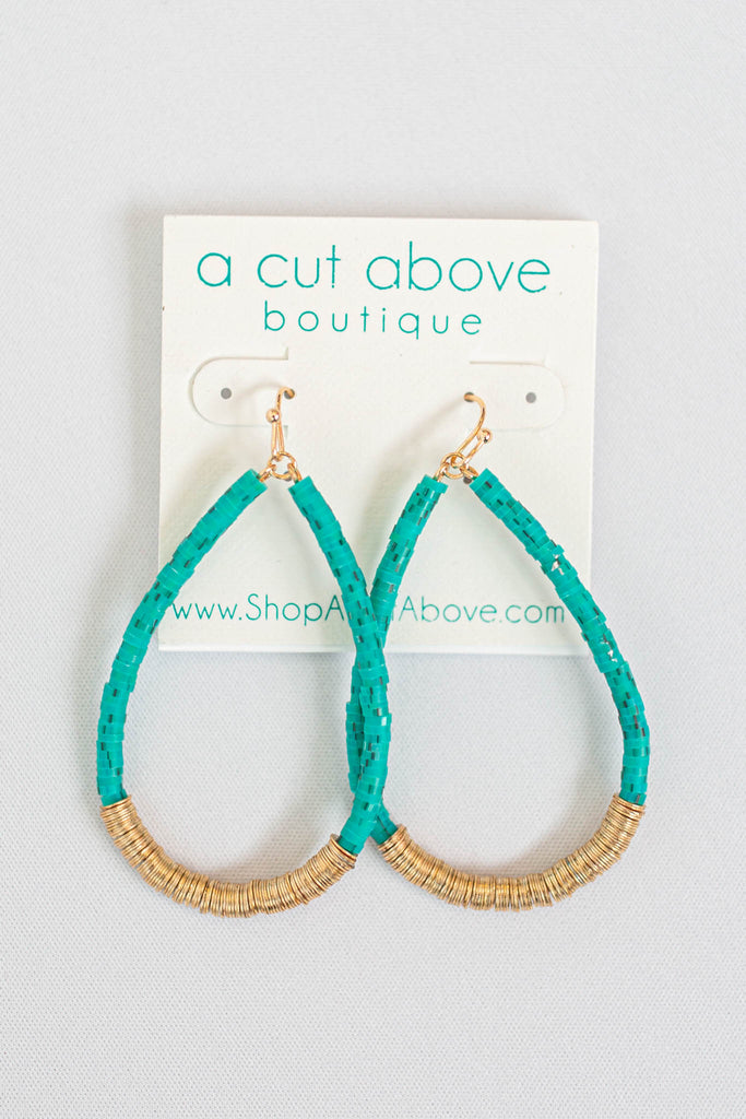 On The Run Turquoise Earring - A Cut Above Boutique