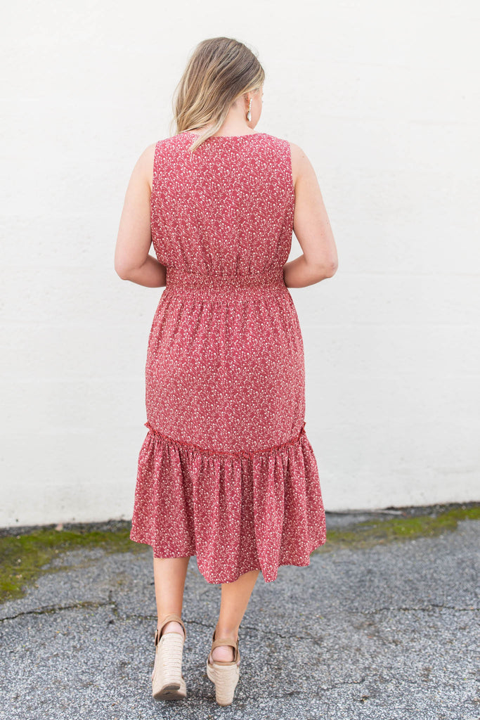 She's A Brick House Midi Dress - A Cut Above Boutique