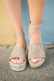 Dark Tan Platform Sandals - A Cut Above Boutique