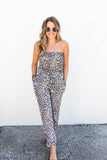 Blogger Babe Leopard Jumpsuit - A Cut Above Boutique