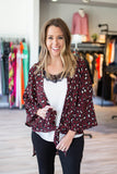 On The Prowl Kimono - Burgundy - A Cut Above Boutique