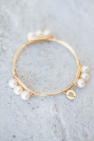 Bourbon And Boweties - 3 Pearl Bangle