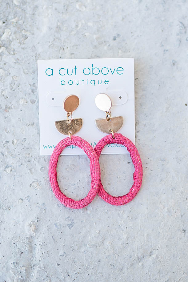 Don't Leave Pink Earring - A Cut Above Boutique