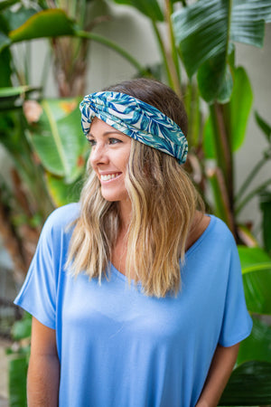 Twist It Headband- Tropical Blue