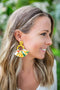 Fan Floral Earring - Yellow