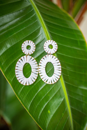 Now You See Me Earrings - White