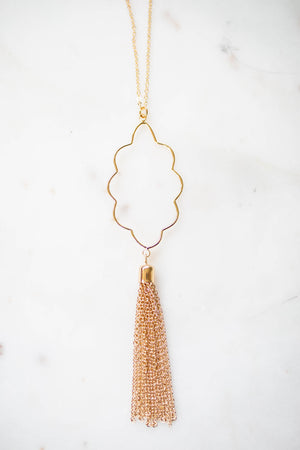 Iconic Tassel Necklace - Gold - A Cut Above Boutique