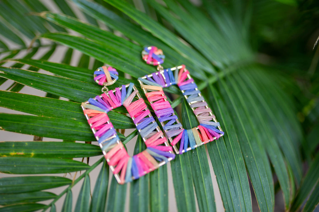 Get Squared Earrings - Multi - A Cut Above Boutique
