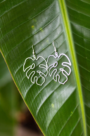 Palm Earring - Silver