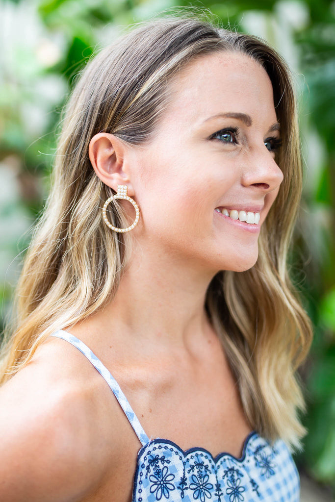 Lil' Bit Southern Pearl Earrings - A Cut Above Boutique